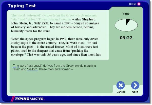 Download TypingMaster Typing Test free — NetworkIce.com