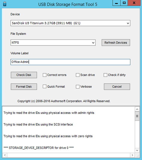 Screenshot 1 of USB Disk Storage Format Tool