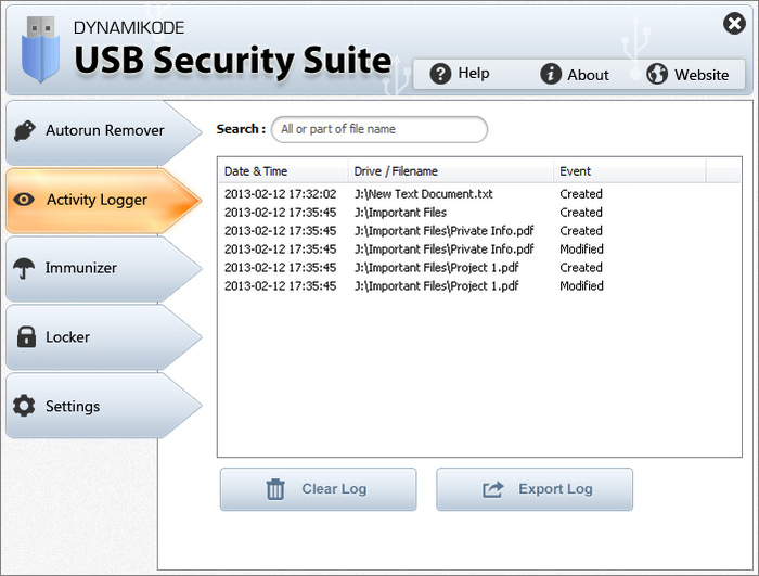 Screenshot 5 of USB Security Suite