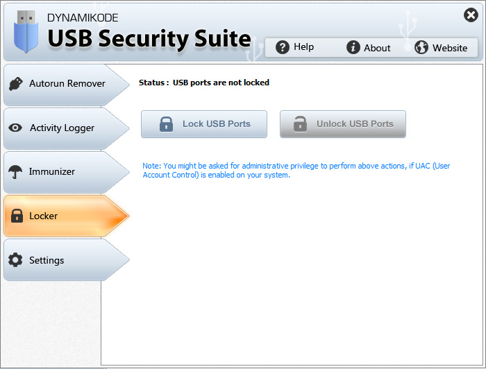 Screenshot 4 of USB Security Suite