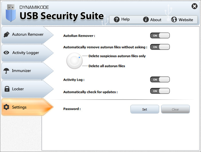 Screenshot 2 of USB Security Suite
