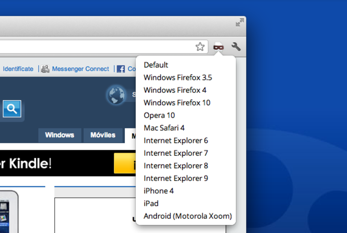 Screenshot 2 of User-Agent Switcher