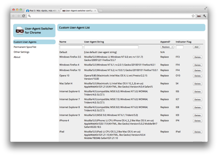 Screenshot 4 of User-Agent Switcher