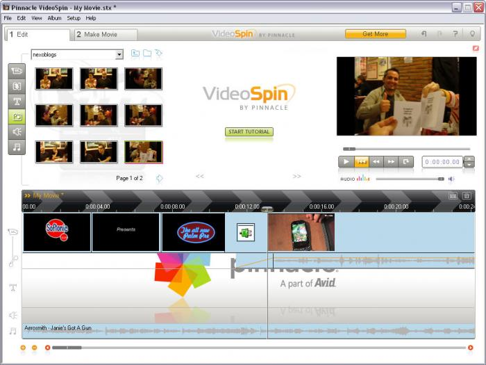 gratuitement pinnacle videospin