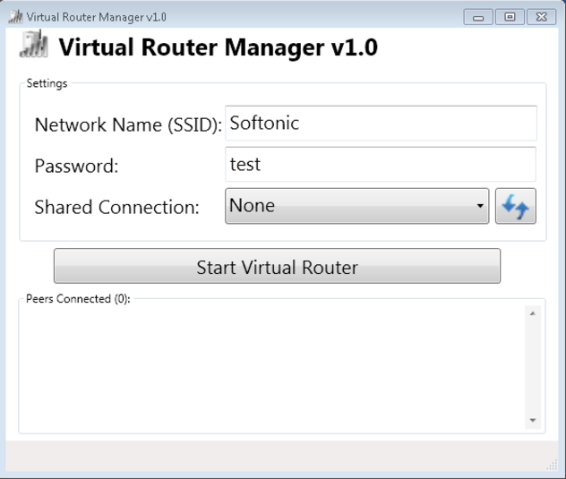 Screenshot 1 of Virtual Router Manager