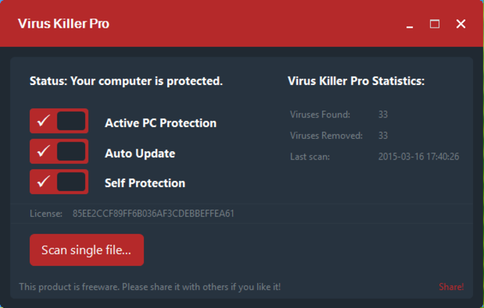 Screenshot 3 of Virus Killer Pro