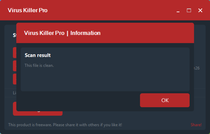 Screenshot 1 of Virus Killer Pro