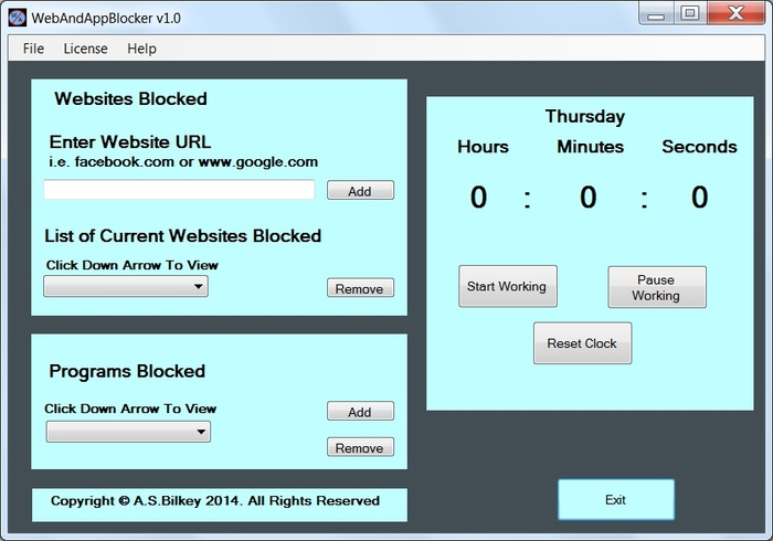 Screenshot 1 of WebAndAppBlocker