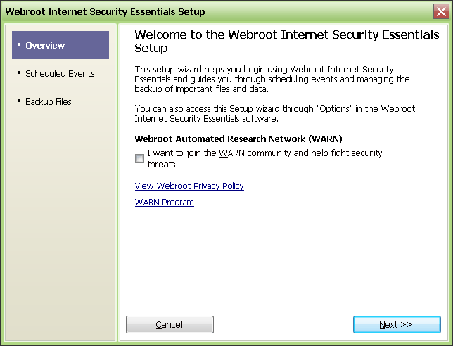 Screenshot 3 of Webroot Internet Security Essentials