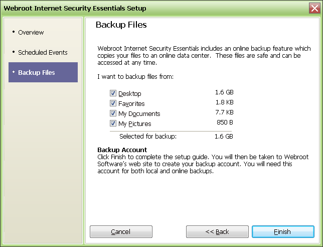 Screenshot 2 of Webroot Internet Security Essentials