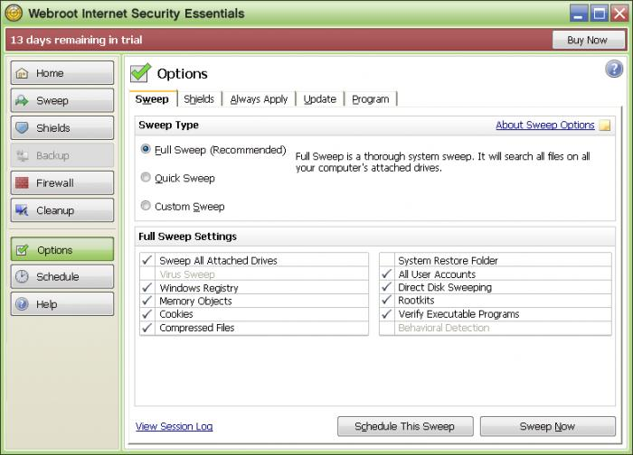 Screenshot 6 of Webroot Internet Security Essentials