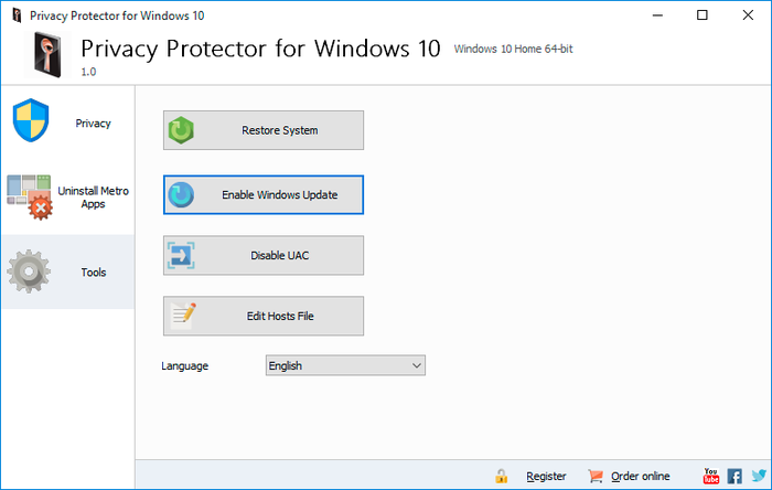 Screenshot 2 of Privacy Protector for Windows 10