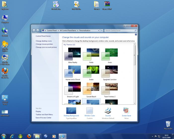 Screenshot 3 of Windows 7 Visual Themes Pack