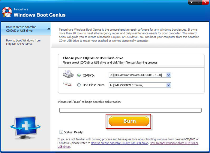 Screenshot 1 of Windows Boot Genius