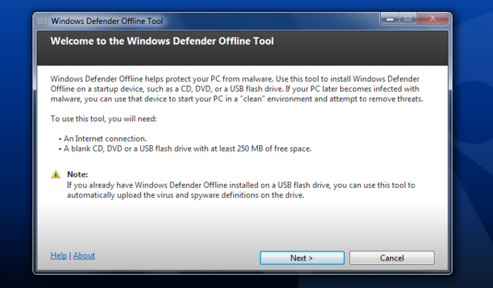 Screenshot 2 of Windows Defender Offline