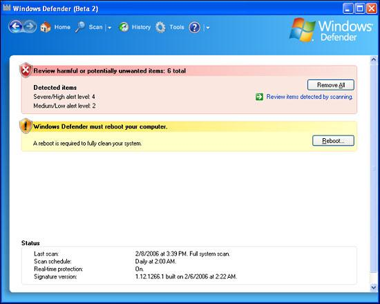 Screenshot 2 of Windows Defender