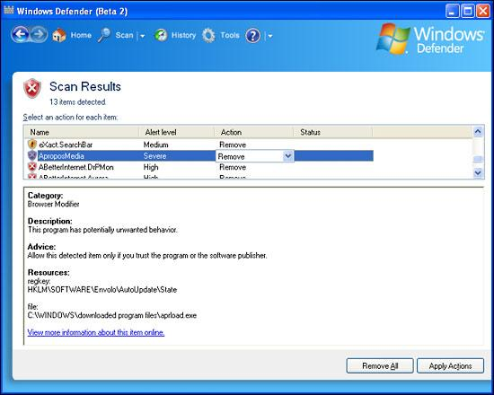 Screenshot 8 of Windows Defender