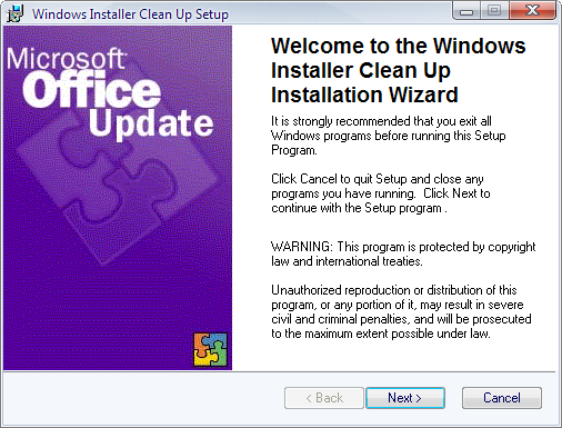 Download windows installer cleanup utility msicuu2. Exe here.