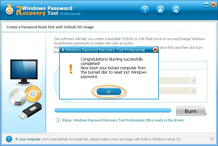 Screenshot 3 of Windows Password Recovery Tool Professional