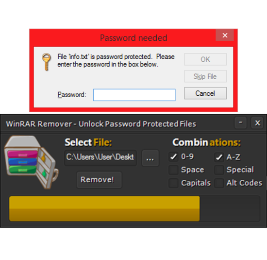 Screenshot 1 of WinRAR Remover