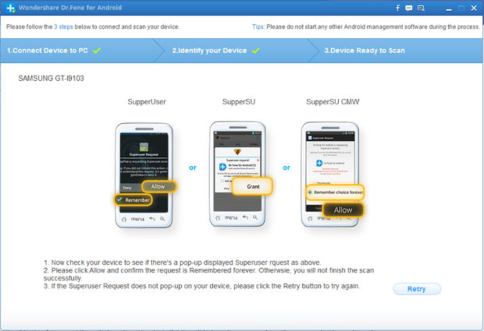 Screenshot 1 of Wondershare Dr.Fone for Android