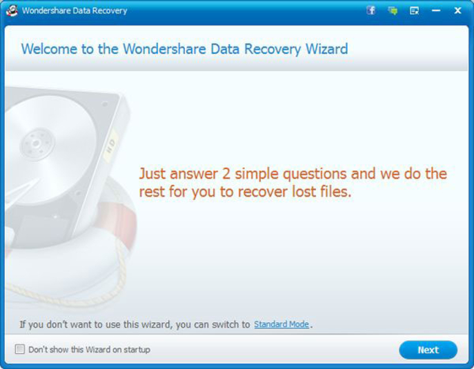 Screenshot 2 of Wondershare Data Recovery
