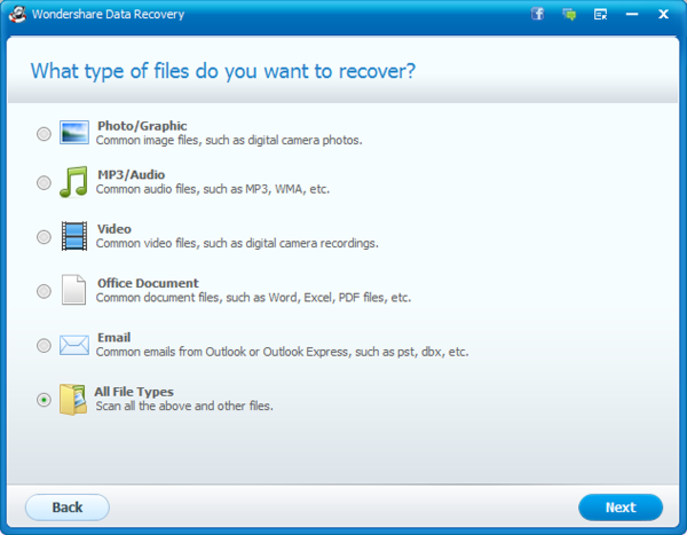 Screenshot 3 of Wondershare Data Recovery