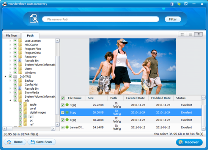 Screenshot 10 of Wondershare Data Recovery