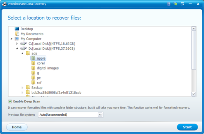Screenshot 8 of Wondershare Data Recovery