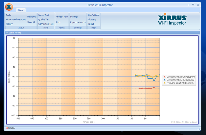 Screenshot 2 of Xirrus Wi-Fi Inspector