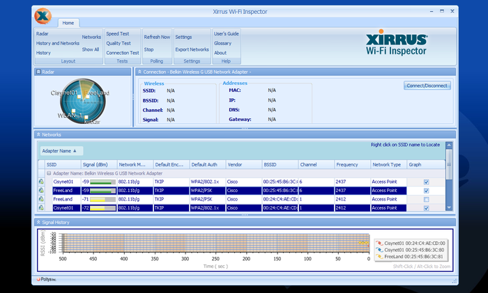 Screenshot 1 of Xirrus Wi-Fi Inspector