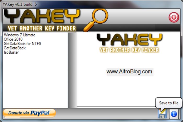 Download YAKey - Yet Another Key Finder free — NetworkIce com