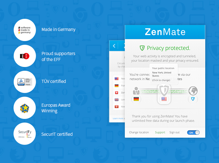 Screenshot 2 of ZenMate VPN for Firefox