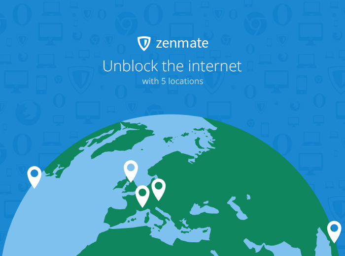 Screenshot 1 of ZenMate VPN for Firefox