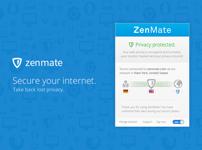 Screenshot 4 of ZenMate VPN for Firefox
