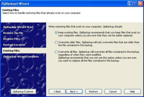 Screenshot 2 of ZipBackup