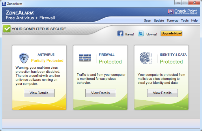 Screenshot 1 of ZoneAlarm Free Antivirus + Firewall 2017