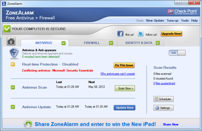 Screenshot 6 of ZoneAlarm Free Antivirus + Firewall 2017