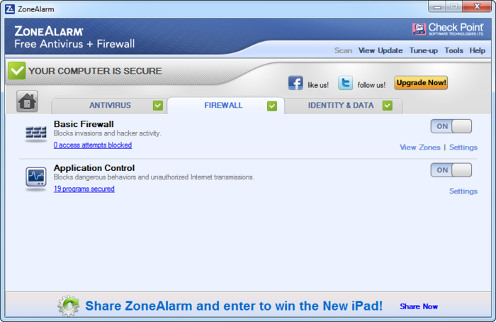 Screenshot 9 of ZoneAlarm Free Antivirus + Firewall 2017