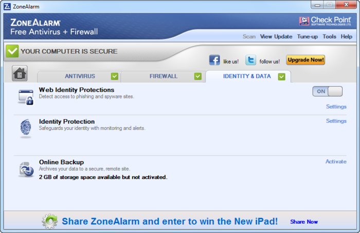 Screenshot 11 of ZoneAlarm Free Antivirus + Firewall 2017