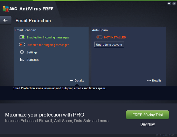 Screenshot 1 of AVG AntiVirus Free