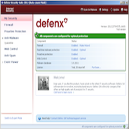 Screenshot 1 of Defenx Internet Security
