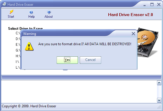 Screenshot 1 of Hard Drive Eraser