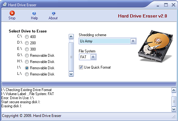 Screenshot 2 of Hard Drive Eraser