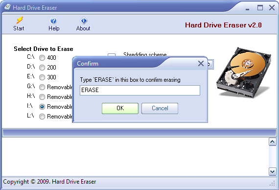 Screenshot 3 of Hard Drive Eraser
