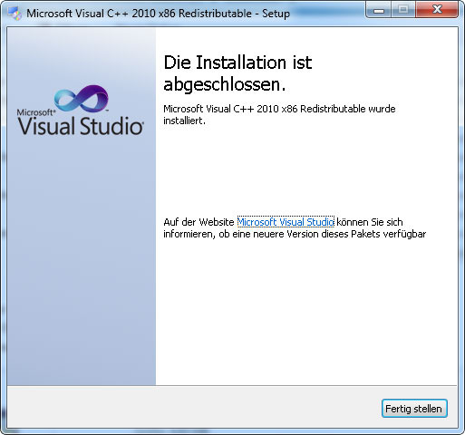 microsoft visual c++ 2008 redistributable package (x86)