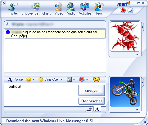 Mess with windows live and msn messenger: download free msn.