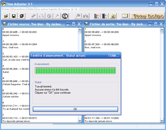 time adjuster 3.1 gratuit