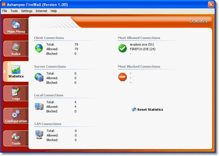 Screenshot 2 of Ashampoo Firewall