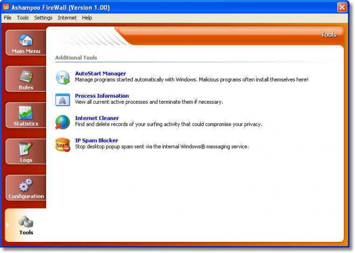 Screenshot 1 of Ashampoo Firewall